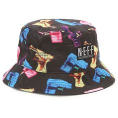 d86310bccbc Neff P-Shooter Bucket Hat ( 28) ❤ liked on Polyvore featuring men s  fashion