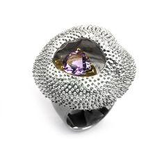 Ring Amethyst,  jewellery G.Kabirski | 100805 К