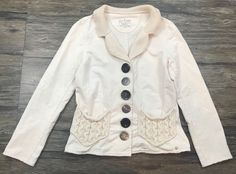 Neon Buddha Jacket Blazer Ivory Button Down Womens Sz XS*  | eBay