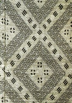 Detail of Japanese Kogin, a type of  embroidery technique |  Japanese Folk Art Museum, Tokyo | Meiji Period, 19th Century.