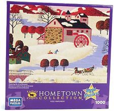 Hometown Collection Winter in Maine Heronim 1000 Piece Jigsaw Puzzle By Mega NEW