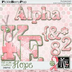 Team Hope Alpha :: Coordinates with the entire Team Hope Digital Scrapbooking Collection by Kathryn Estry @ PickleberryPop  $3.49