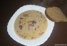 Fazuľová polievka od babičky Cheeseburger Chowder, Soup Recipes, Pudding, Breakfast, Desserts, Food, Soups, Morning Coffee, Tailgate Desserts