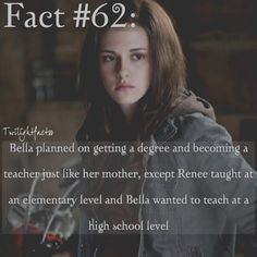 "15 Synes godt om, 1 kommentarer – Twilight Facts (@twilightfactss) på Instagram: ""~ I can picture Bella becoming a teacher - Autumn {#twilightsaga#bellaswan#reneedwyer#twifact62}"""