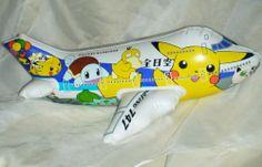 Nintendo Pokemon Pocket Monsters inflatable Airplane Pikachu Mew Psyduck rare 98 #Pokemon