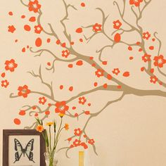 Whether beside the doorway or adorning an accent wall, this flowering branch decal fills your home with organic intrigue and eye-catching style.