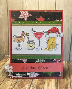Your Next Stamp: Holiday Cheers stamp set, Fun Faces Stamp Set  #yournextstamp
