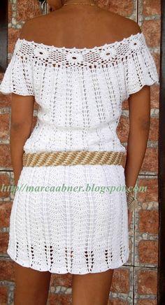 Marcinha crochet: WHITE DRESS IN CROCHET