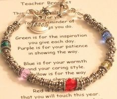 Our special Principal bracelet makes a great gift idea for your school Principal. Each bracelet is made with bali silver and swarovski crystals and comes with a special poem Principal Appreciation, Principal Gifts, Teacher Appreciation Week, Teacher Humor, Teacher Gifts, Principal Retirement, Head Teacher, Principal Ideas, Best Poems