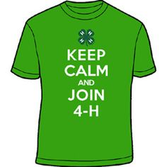 Keep calm and join 4-H!