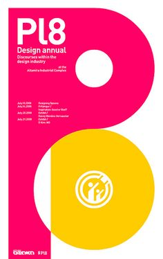 Pl8 Poster: network Osaka, via graphic design layout, identity systems and great type lock-ups.