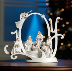 Lighted Joy Nativity Scene Holiday Sculpture