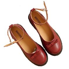 Cheap Women's Flats on Sale at Bargain Price, Buy Quality Women's Flats from China Women's Flats Suppliers at Aliexpress.com:1,Model Number:c256 2,Leather Style:Soft Leather 3,Platform Height:0-3cm 4,color :Wine red ,black,Brown 5,Closure Type:Buckle Strap