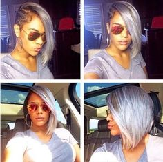 Brief Bob Hair with Layered Bangs for Black Women
