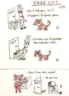 """""""Jazz Cat"""" -vintage cartoon"""