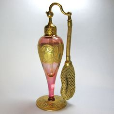 DeVilbiss Cranberry & Gold Perfume Atomizer 1925 -27
