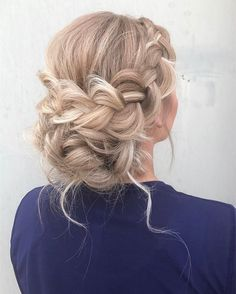 Wedding Hairstyles For Long Hair Elegant Braided Updo or Long Blonde Hair Prom Hairstyles For Long Hair, Homecoming Hairstyles, Fancy Hairstyles, Hairstyles Haircuts, Hairstyles For Dances, Updo For Long Hair, Hairstyle Ideas, Quinceanera Hairstyles, Gorgeous Hairstyles