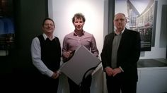 Dave from Thermakraft presenting Rob from Buchan Group with the A3 Youmans Capsule