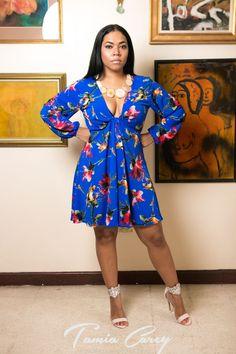 153581efb39e0a  mini  dress  fun  cute  fashion  designer  Jamaican  curvy  plussize   floral  long  sleeve