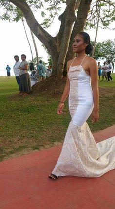Island Wear, Island Outfit, Fashion Show, Girl Fashion, Fashion Outfits, Island Wedding Dresses, Samoan Dress, Plus Size Fashionista, Bridesmaid Dresses