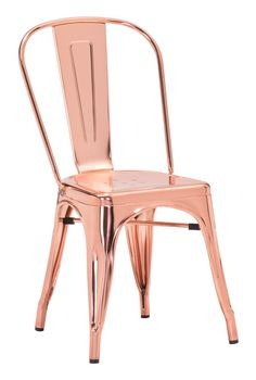 Zuo Modern 108061  Elio Dining Chair Rose Gold