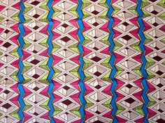 Pink, Lime Green and Blue African wax print batik fabric BY THE YARD 100% cotton. £5.20, via Etsy.