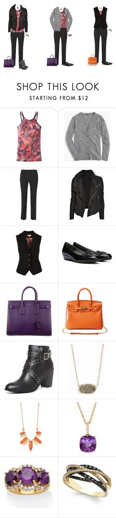 """Halloween Colors Capsule - Print Tank and Black Pants 1"" by tracy-gowen ❤ liked on Polyvore featuring prAna, J.Crew, Roland Mouret, Rick Owens, Ted Baker, LifeStride, Yves Saint Laurent, Handle, Dorothy Perkins and Kendra Scott"