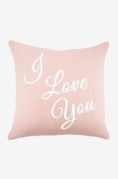 I Love You Pillow- little girls room pillow to grow into big girls room pillow.