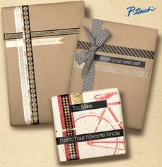 Get Inspired! Here are some of our favorite ideas for how P-touch can help add a personal touch to the holidays. Personalized Ribbon, Personalized Labels, Leslie Knope, Label Paper, How To Make Ribbon, Organizing Your Home, Homemade Gifts, Gift Wrap, Printer