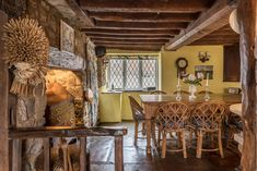 Picnic Chairs, Wicker Picnic Basket, English Cottage Interiors, Character Cottages, Heating And Plumbing, Single Bedroom, Open Fireplace, Home Trends, Al Fresco Dining
