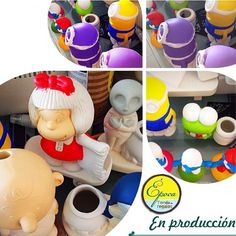 En producción para una tienda muy especial y con mucha trayectoria  piezas hechas en #epocatiendaderegalos #handmade #handpainted #hechoencolombia #diseño #design #designlovers #cartoon #mafalda #minions #snoopy #keroppi #art #color #interiordesign #decor #deco #interiordecor #colors #homedecor #homesweethome #trend #trendy #cali #calico by epocatiendaderegalos