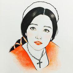 Olivia hussey fanart Prisma illust