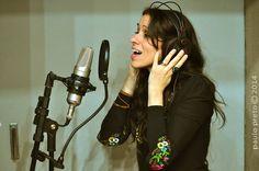 """gravando """"Salsinha"""" (parceria com Beba Zanettini)"""