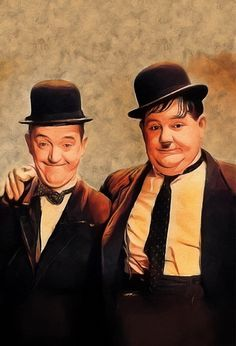 'Laurel and Hardy, Hollywood Legends' by SerpentFilms - Will Turner, Lana Turner, Laurel Et Hardy, Stan Laurel Oliver Hardy, Vintage Hollywood, Classic Hollywood, The Black Swan, Comedy Duos, Steve Mcqueen