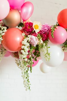 Flamingo Pop. A bridal collaboration with BHLDN and The House That Lars Built. Balloon installation by Brittany Watson Jepsen. Florals by Ti...