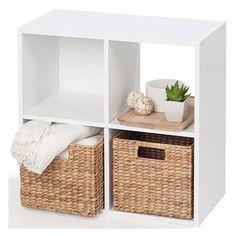 Homemaker 4 Cube Storage Unit - White Size: 60cm (W) x 60cm (H) x 29cm (D) $19.00
