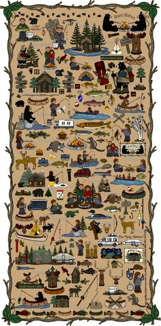 465f611e Country Cabin Camping & Fishing Graphics and Clipart Collection