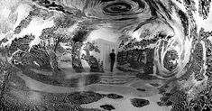 After 14 days and 120 marker pens, artist Oscar Oiwa created his own incredible imaginary world.