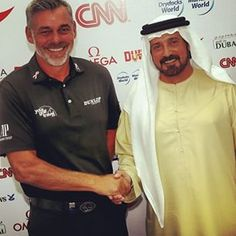 Golf in Dubai congratulating new European Ryder Cup captain and Mena Golf Tour patron Darren Clarke #dubai #abudhabi #golf #uaegolf #uae #emirates #golfer #golfing #mydubai #socialgolf #sun #happy #like #smile #instagood #instagolf #love #tagsforlikes #fo
