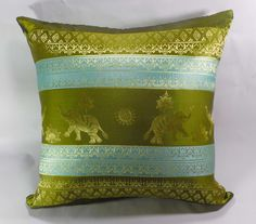 1 piece of Thai Silk Cushion Pillow Cover on Etsy, ฿203.74