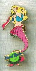 Hard Rock Mermaid Pin Copenhagen Pink Tail