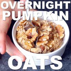 Pumpkin Pie Protein Overnight Oats - Krollskorner.com