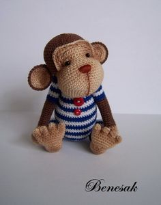 crochet Monkey Sailor Joseph