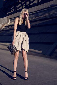 puffed up skirt