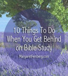 10 Things to Do When You Get Behind on Bible Study - MargaretFeinberg.com