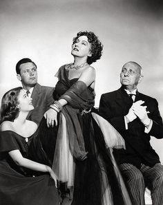 SUNSET BOULEVARD ~ William Holden, Gloria Swanson, Nancy Olson, Erich von Stroheim