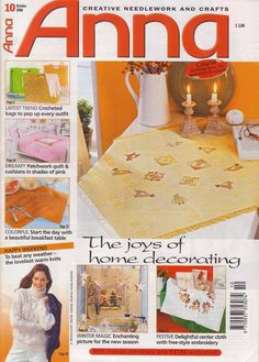ANNA №10 2006-nice Christmas embroidery, knit, crochet