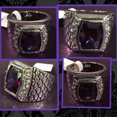 Sterling Silver Amethyst & CZ RingSale Fabulous Sterling Silver Amethyst & AAA CZ Ring with gorgeous detailing Sorry no PayPal holds or trades.  Last sale price was $75.00 and now… $55.00 Save up to 50o/o off on bundles In both of my Poshmark closets  @demitria67  Thank you for shopping Demitria's Treasures Jewelry Rings