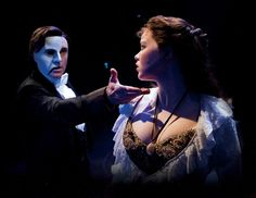 Earl Carpenter and Katie Hall  in the UK Tour of Phantom of the Opera. She takes my breath away amazing singer.