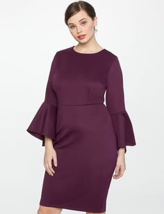 Studio Flare Sleeve Dress from eloquii.com